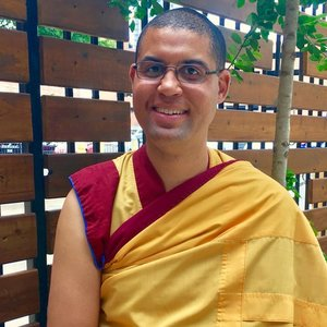 event teacher Gen Kelsang Menla